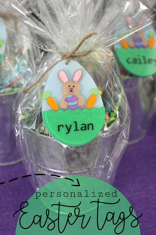 Personalized Easter Tags at gingersnapcrafts.com