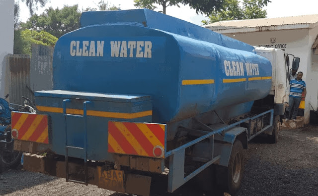Water tank carrying ethanol. PHOTO | BMS