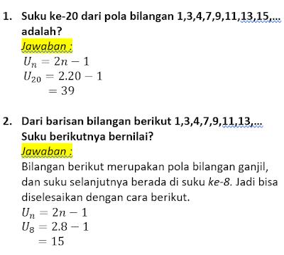 contoh soal dan pembahasan pola bilangan ganjil
