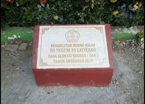 Peresmian Gedung Baru SD NEGERI 53 LATTEKKO Kabupaten Bone