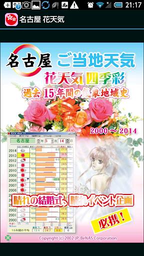 名古屋 花天気 広告付き