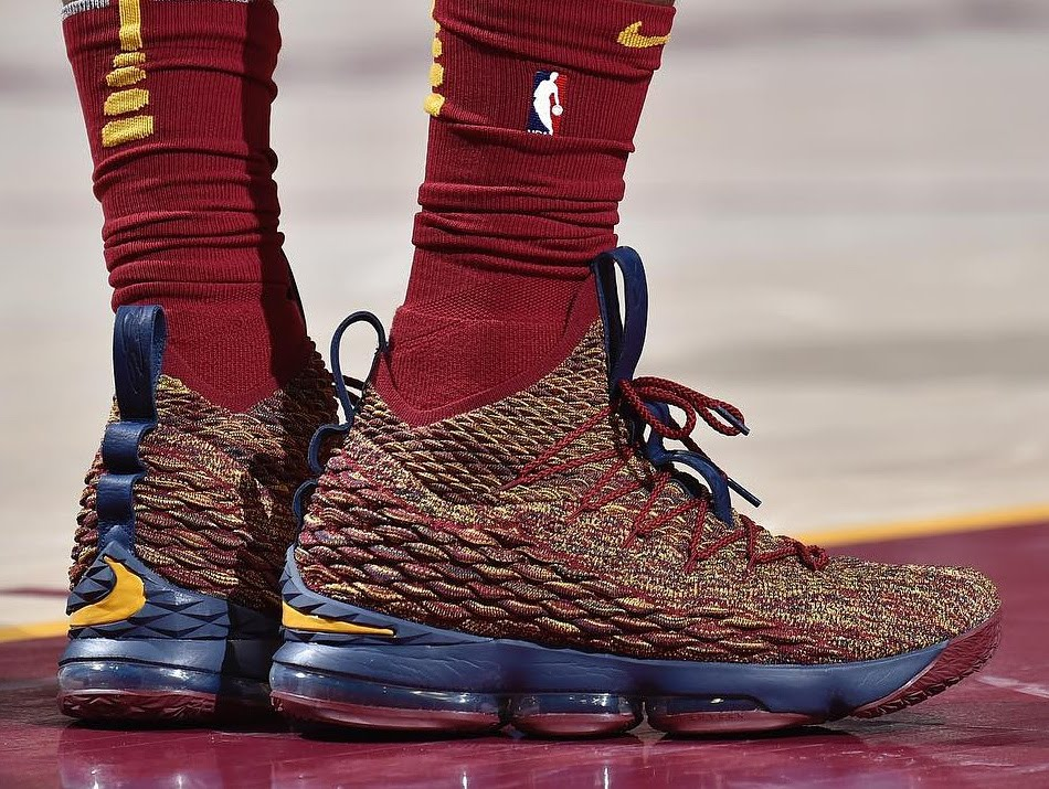 4a388016b59f LBJ Debuts His 20th Colorway of Nike LeBron 15 in Cavs Win ...
