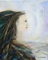"""""""Wurzelfrau"""", Öl auf Leinwand, 41x50, 2004"""