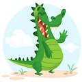 Cartoon Crocodile Character Free Download Vector CDR, AI, EPS and PNG Formats