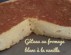 Gâteau au fromage blanc à la vanille sans pâte
