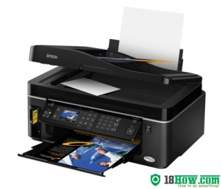 How to Reset Epson TX600FW flashing lights error