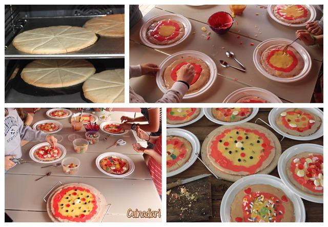 X-Pizza de galeta cuinadiari-aniversari