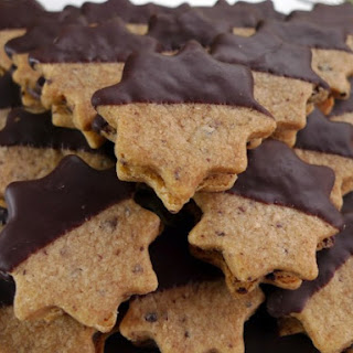 Cacao Nib Shortbread Sandwich Cookies.