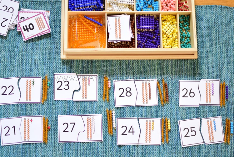 Montessori Teens and Tens Extension Work