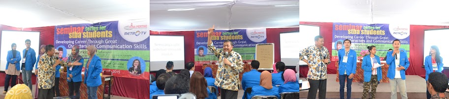 Dr. Suharsono Dalam seminar stba Pertiwi