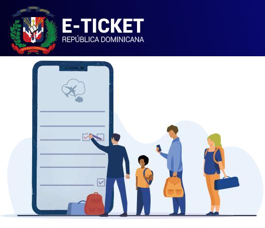 Ticket de verificación electrónica para salir y entrar a la República Dominicana