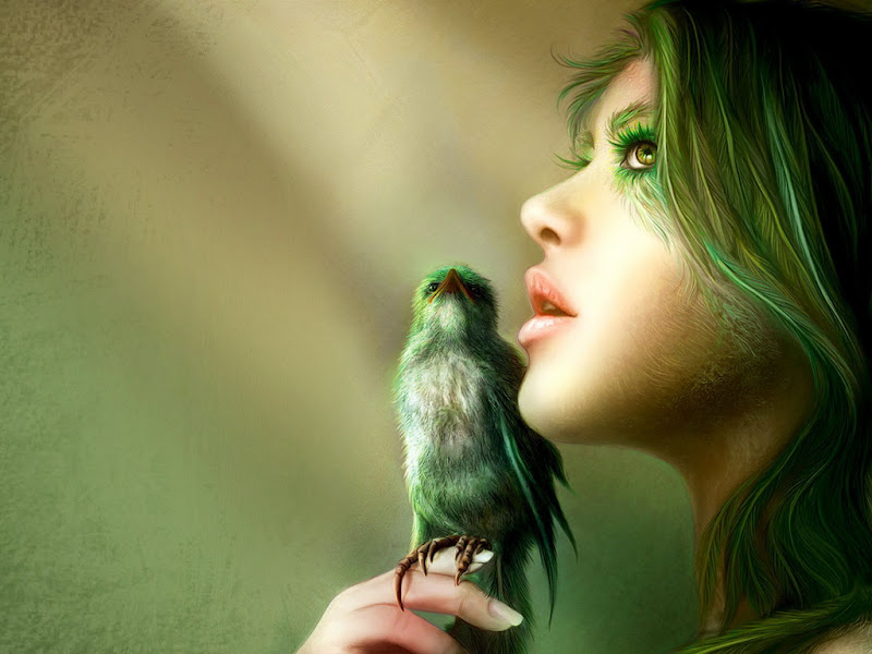 Witch And Singing Bird, Green Witches
