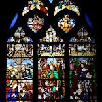Collégiale Saint-Martin : vitraux L'adoration des bergers, Saint Michel protège Gaspard de Coligny, Saint-Louis et Louise de Montmorency (16e s., restaurés au 19e s.)