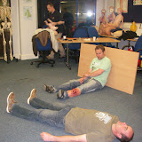 Casualty Care for Lifeboat Crew course – April 2011: casualties waiting to be found by crew