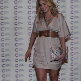 WWW.ENTSIMAGES.COM -   Francesca Hull    arriving at a Fundraising event in aid of Cancer Research UK at The Roof Gardens Kensington High Street, London April 3rd 2013                                                    Photo Mobis Photos/OIC 0203 174 1069