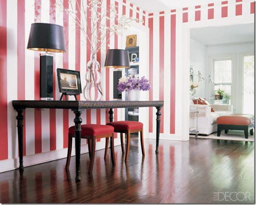 Pareti A Righe Bianche E Nere : Decorare le pareti con strisce dipinte case e interni