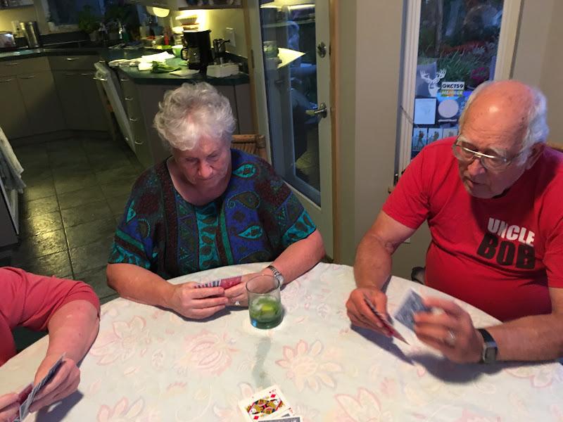 IMG_0923 - Elaine and Bob playing Onze. Elaine ultimately won this one.