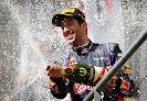 Daniel Ricciardo champagne time