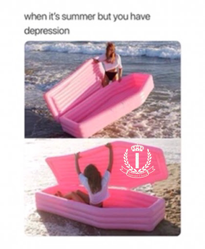 When it's summer but you have depression