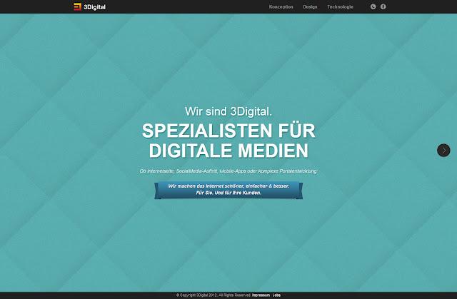 *不是Flash卻有如Flash效果的動態網站:3Digital Web Site 1