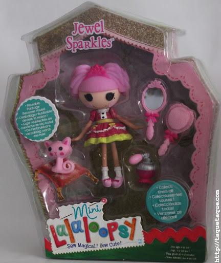 mini Lalaloopsy Jewel Sparkles en su caja