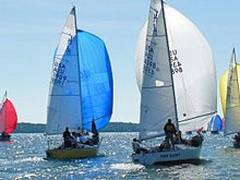 J/24 one-design sailboat- sailing Easter Regatta