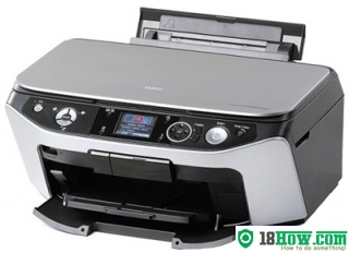 How to reset flashing lights for Epson RX590 printer