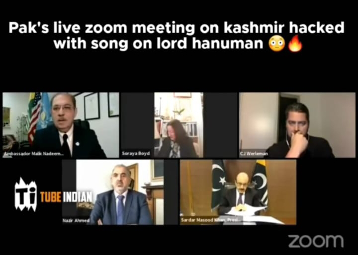 Pakistan's Live Zoom Meeting on Kashmir Hacked, Hackers Play Hindu Songs