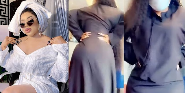 Bobrisky Teases Fans With The First Video Of His Post Surgery Body, Shows Off His Huge Backside [VIDEO]