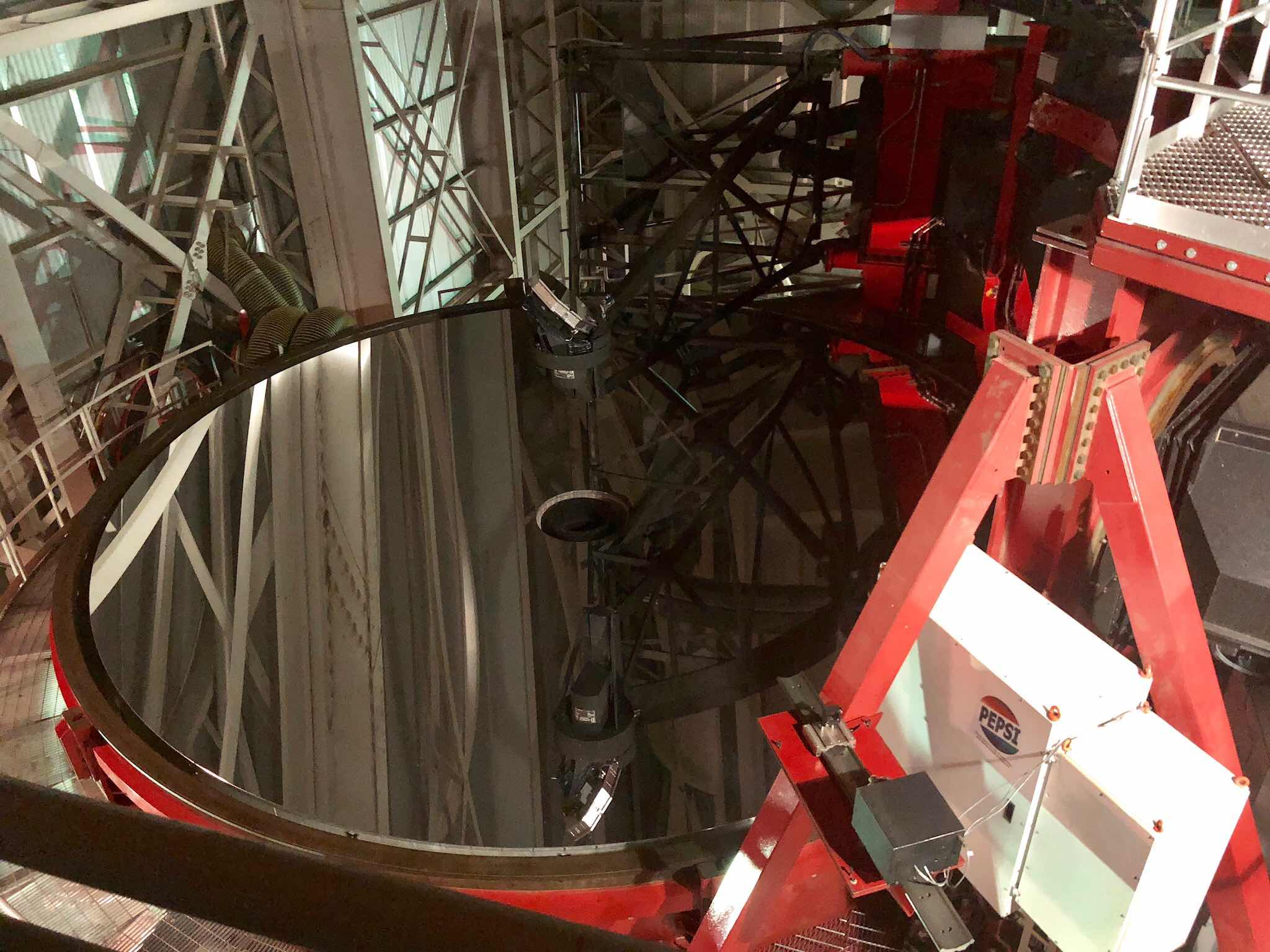 One of the 8.4 meter mirrors of the Large Binocular Telescope (Source: Palmia Observatory)