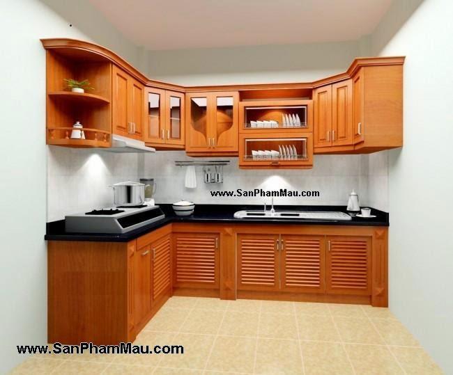 Kệ bếp bằng gỗ công nghiệp