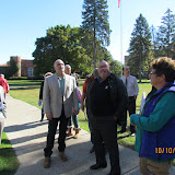 Guests enjoyed a campus tour highlighting MMA history by Brian Bohnett, architectural history by Liam Collins, and and St. Mary's School history by JJ Prezwozniak