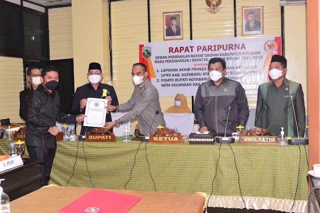 DPRD Kotabaru Sampaikan Raperda Perubahan