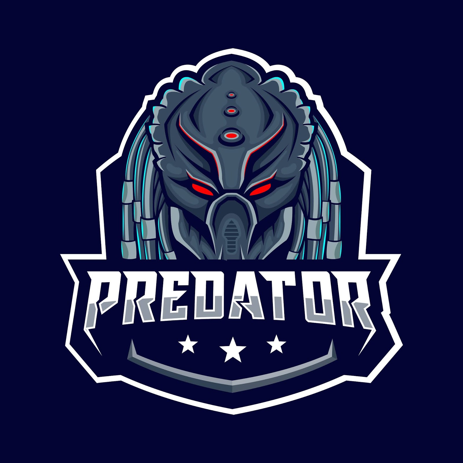 Predator Blue Badge Free Download Vector CDR, AI, EPS and PNG Formats