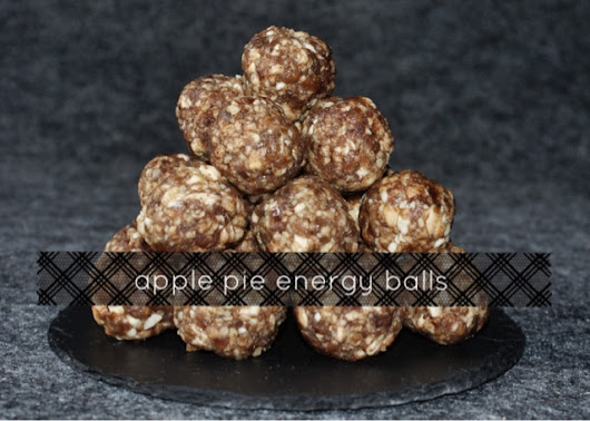 energy balls - apple pie