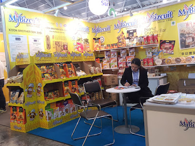 MyBizcuit is from Malaysia. The booth offered peanut rolls for sampling.
