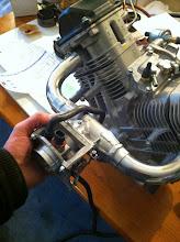 Photo: ce ressemblera à ça, reste à y adapter la longeur des coudes aprés réception de mon volant moteur....tout ceci devrait passer sous le capot