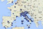 Artificial Sky: la mappa che mostra le Scie Chimiche in tempo reale