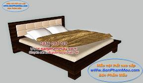 Giường ngủ gỗ ghép phủ veneer