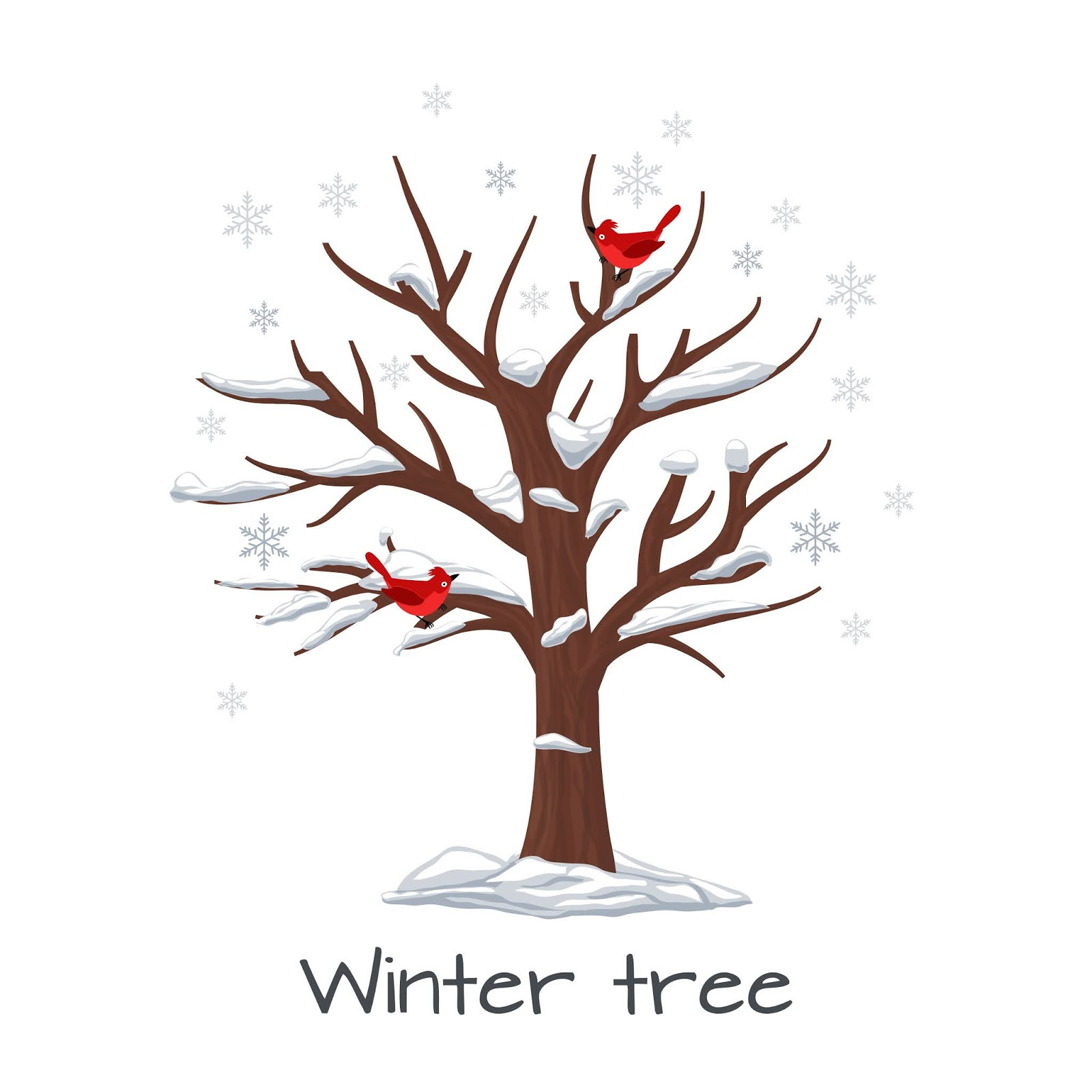 Winter Tree With Birds Season Nature Free Download Vector CDR, AI, EPS and PNG Formats