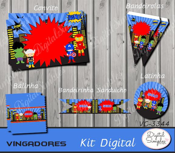 Kit Digital Vingadores Cute  .....artesdigitalsimples@gmail.com