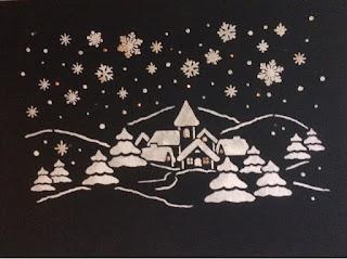 Verlicht sneeuwlandschap