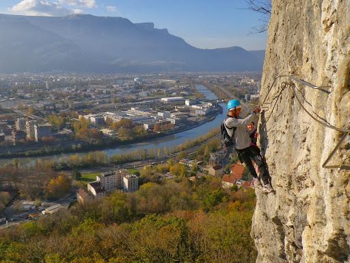 Via ferrata les prises de la bastille Grenoble, Chartreuse, seconde partie