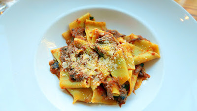 Pappardelle with Braised Lamb Shoulder & Smoked Pecorino at Nel Centro