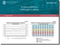 Finanza pubblica. Agosto 2018