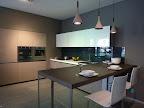 cucina con ante in vetro DeMode mod. Digma su progetto Valcucine - nella nostra esposizione