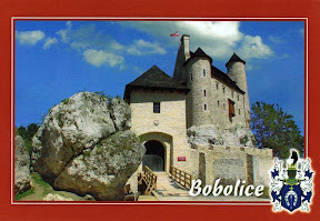 pocztówka zamek Bobolice po odbudowie