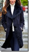 Pure Collection Dark Blue Shearling Coat -