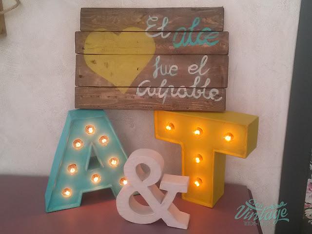 letras con luz