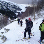 depart sur le chemin en face des pistes de ski